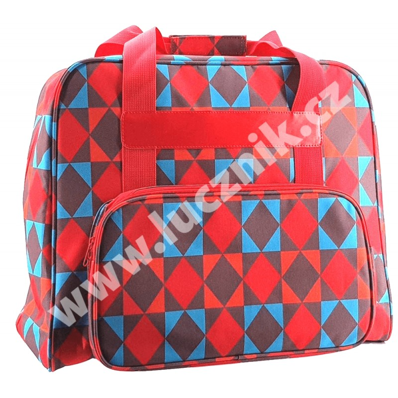 Taška na šicí stroj - barevné kostky