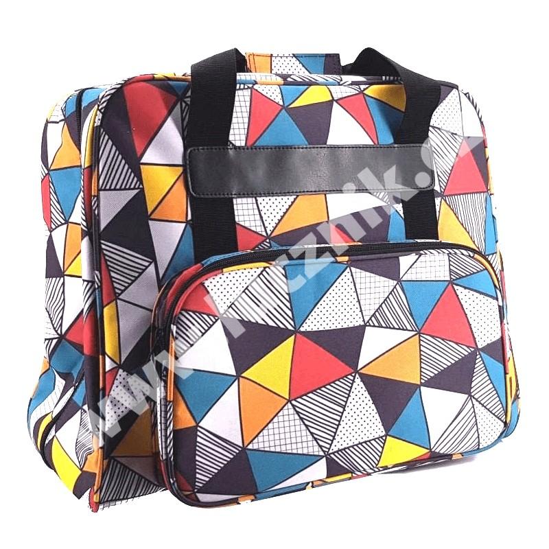 Taška na šicí stroj - abstraktní vzor