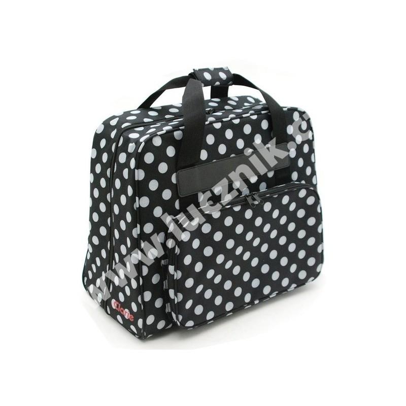 Taška na šicí stroj - černobílá