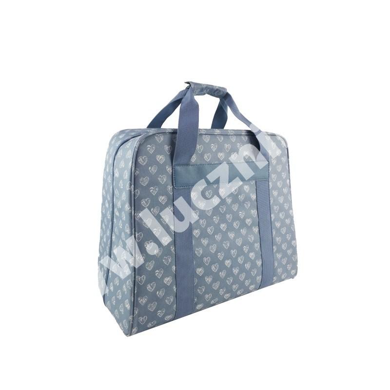 Taška na šicí stroj - modro-bílá