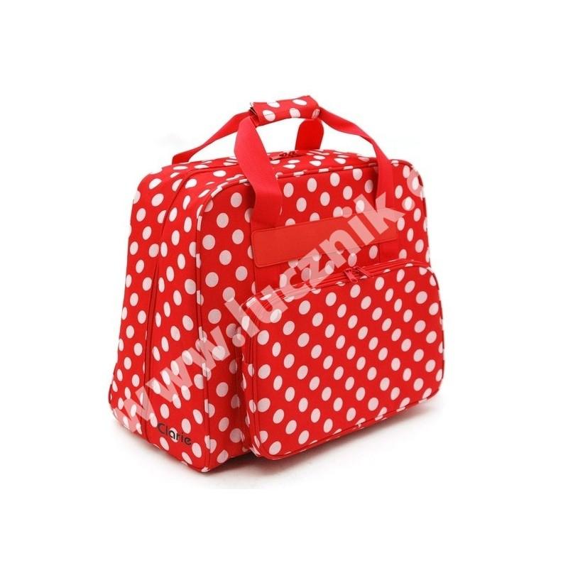Taška na šicí stroj - červenobílá